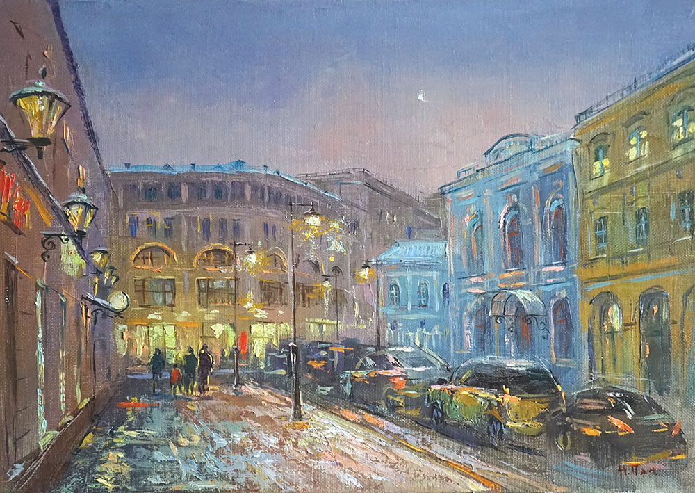 """Нина Панюкова """"Зима на Мясницкой""""."""