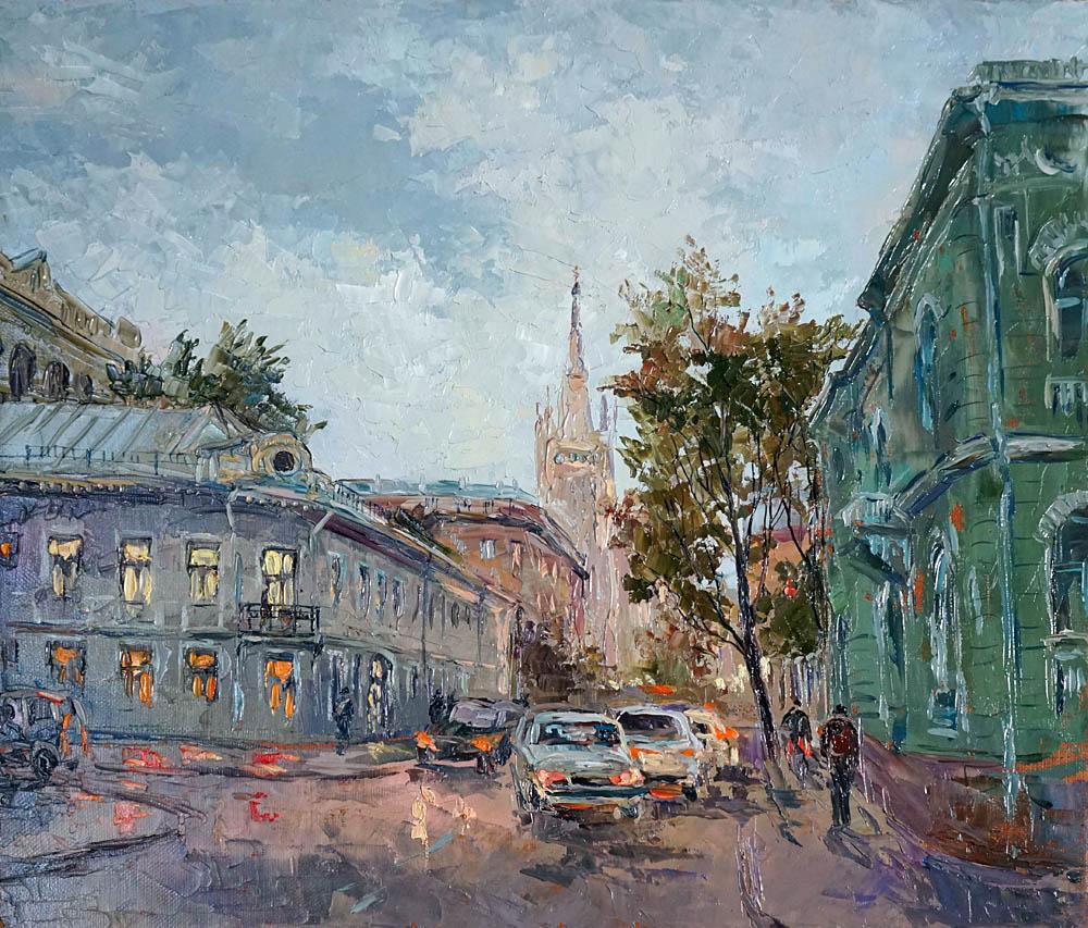 Нина Панюкова Улица Поварская холст масло 35х40