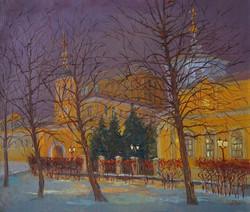 Александр Панюков Храм Косьмы и Дамиана в Столешниковом переулке 30х35