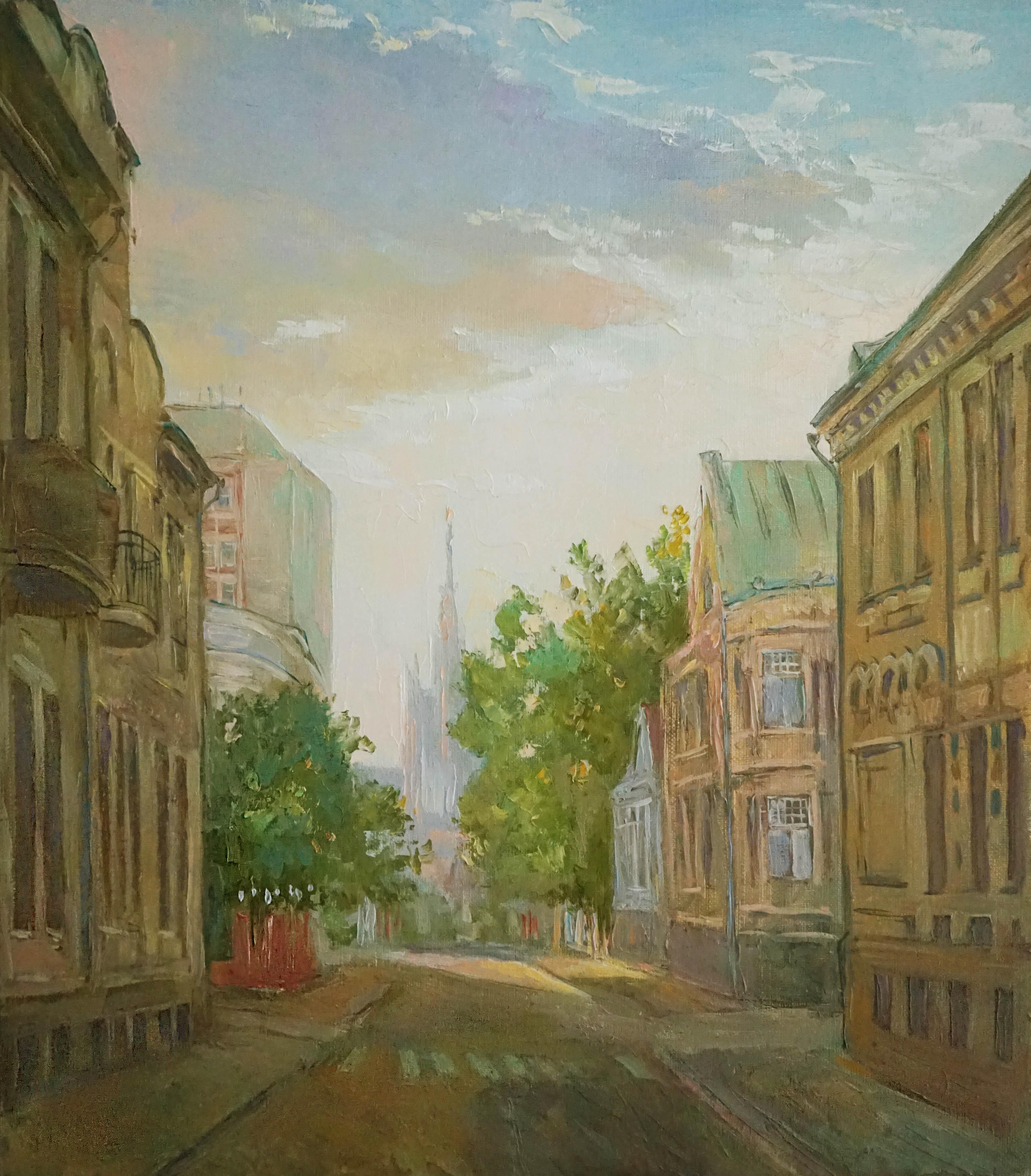 Нина Панюкова Воскресная прогулка по Хлебному переулку 40х45 х м