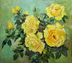 Нина Панюкова Жёлтые розы для любимой 40х45 х м