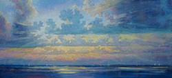 Александр Панюков Облака над водой х м 22х50