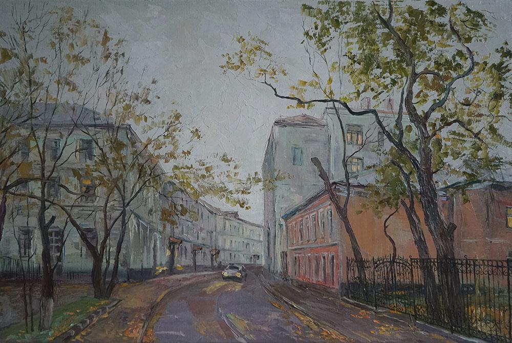 Нина Панюкова Осень. Потаповский переулок 40х60 х м