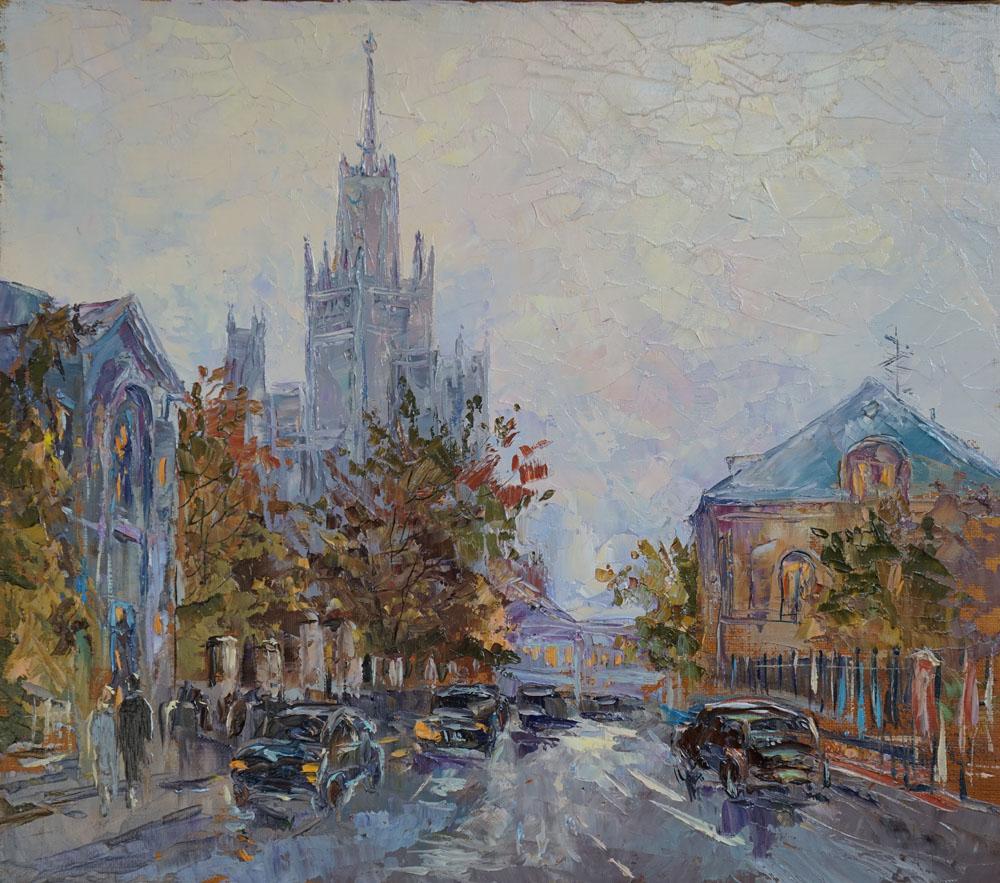 Нина Панюкова Гончарная улица. холст, масло,35х40.