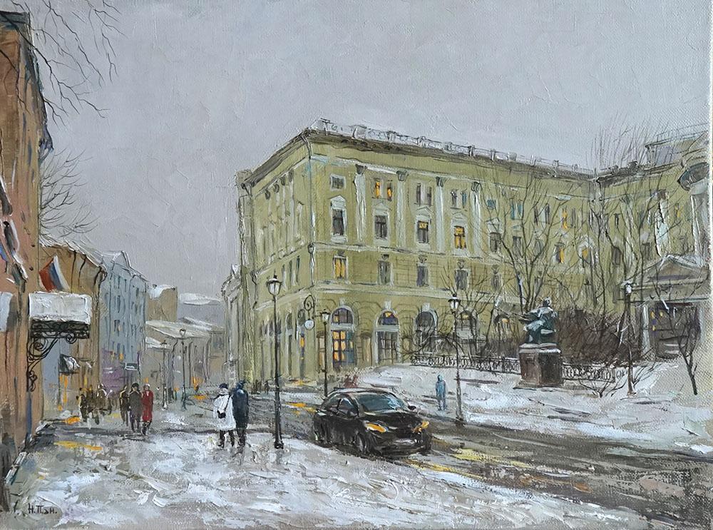 """Нина Панюкова """"Зима на Большой Никитской."""""""