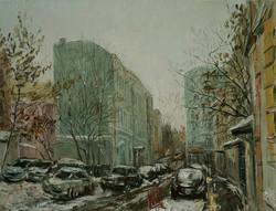 Нина Панюкова Лялин переулок зимой 30х40 х м