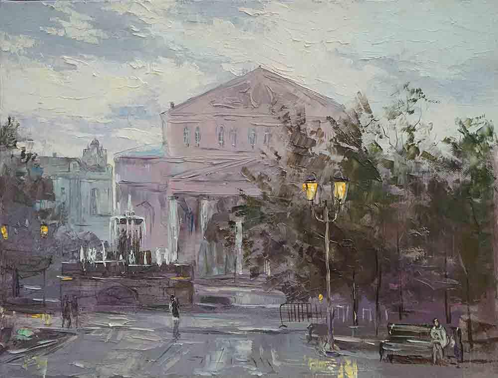 Нина Панюкова У Большого театра 30х40 х м