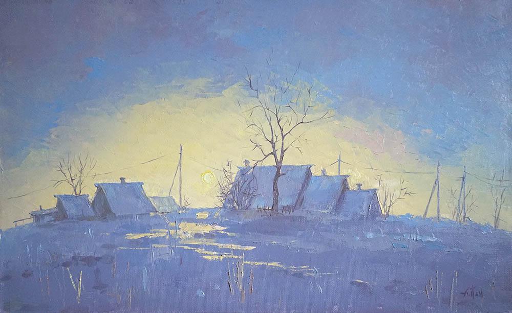 Александр Панюков Зимой у бабушки 26х42 х м
