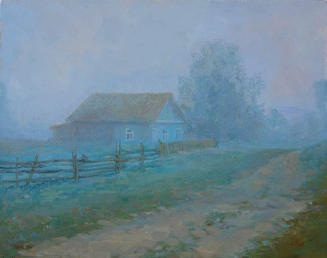 Александр Панюков Туман. 25х30, х. м.