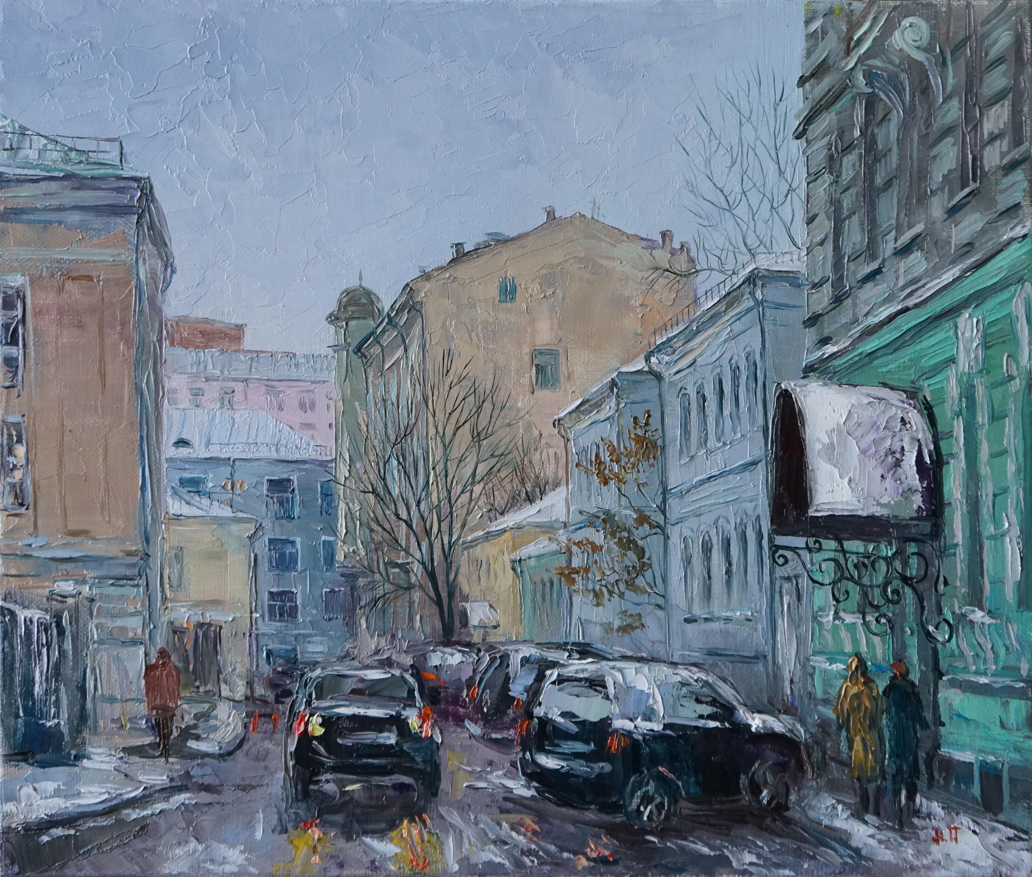 Нина Панюкова Армянский переулок зимой 30х35 х м
