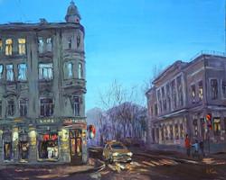 Нина Панюкова Вечер на Лялиной площади 30х40 х м