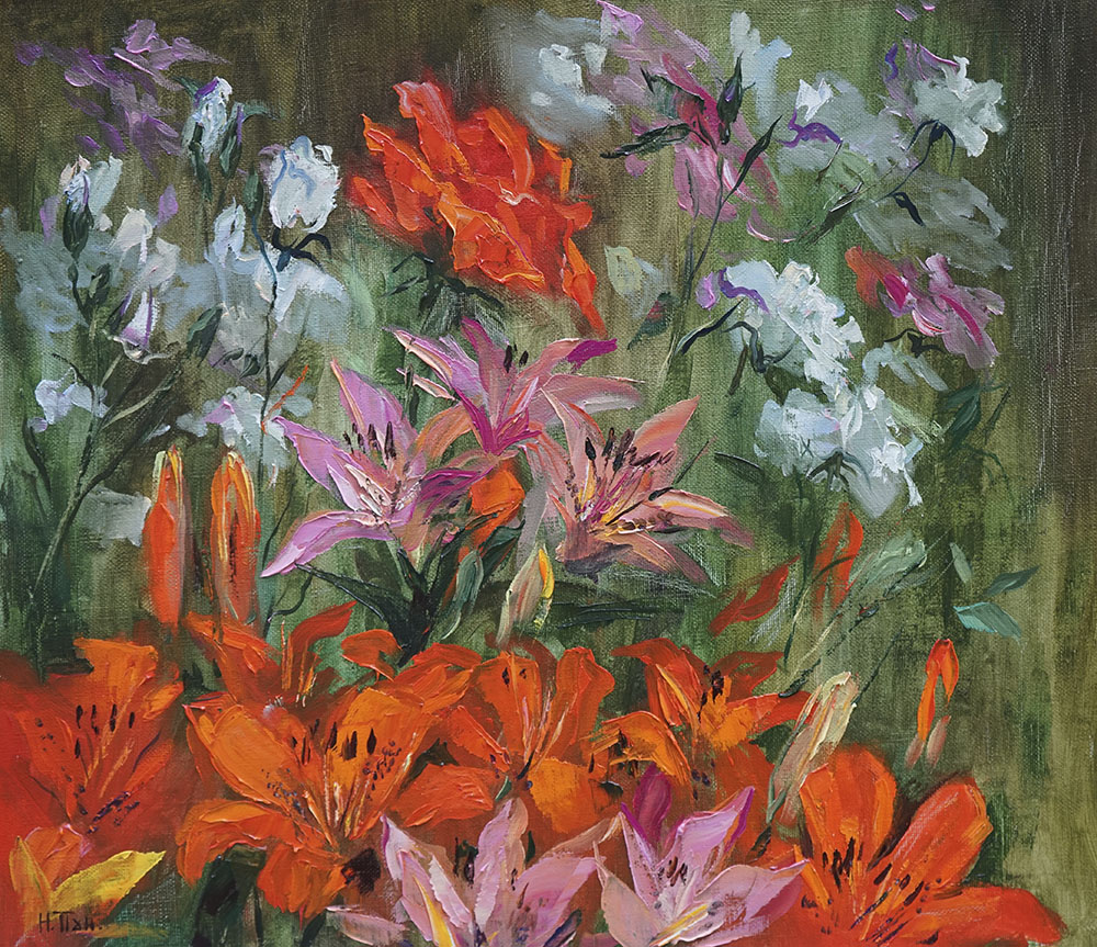 Нина Панюкова Цветы в моём саду 40х45 х м