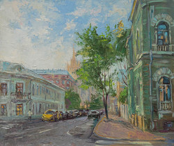 Нина Панюкова Прогулки по Москве Поварская улица 30х35 х м