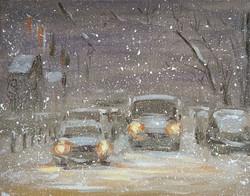 Нина Панюкова Снегопад 25х30 х м