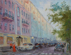 Нина Панюкова Прогулки по Москве Большой Патриарший 40х50 х м