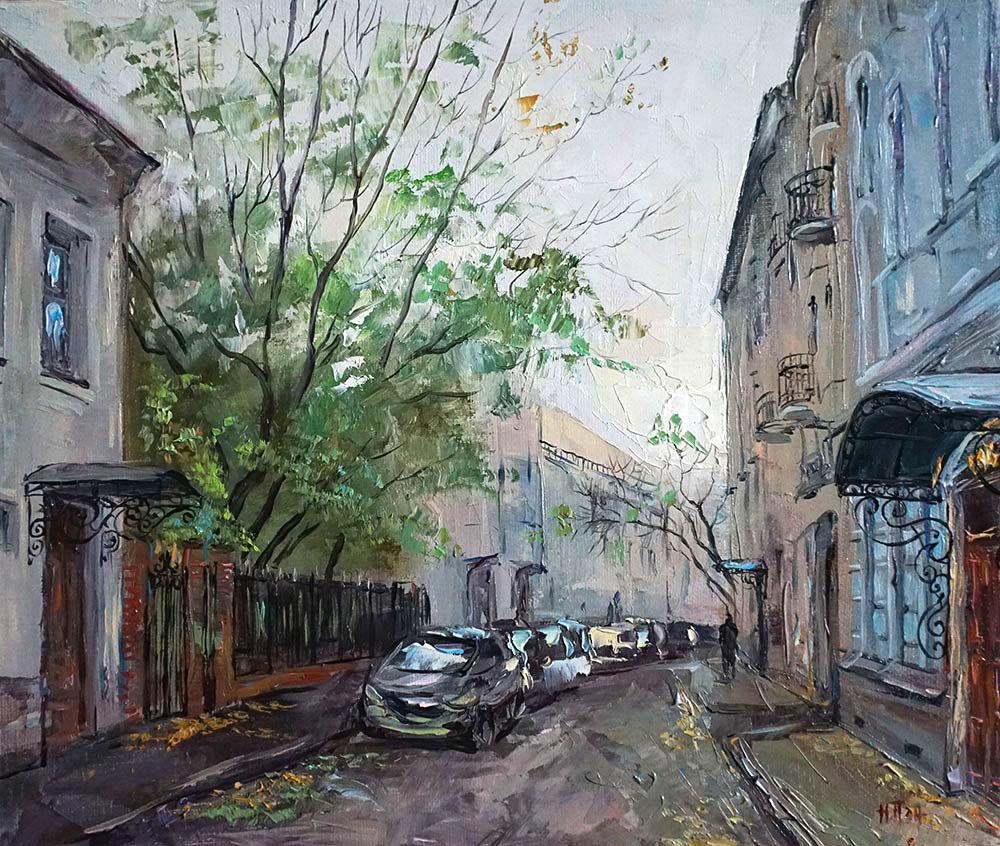 Нина Панюкова Поздняя осень на ул Жуковского 30х35 х м