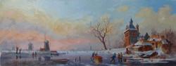 Александр Панюков Зимой. 40х100, х. м.