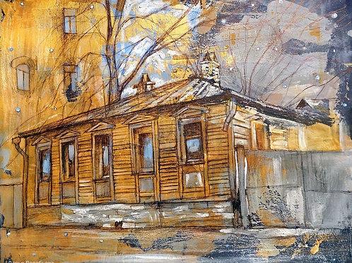 Подвал мастера. Мансуровский переулок. Ночь