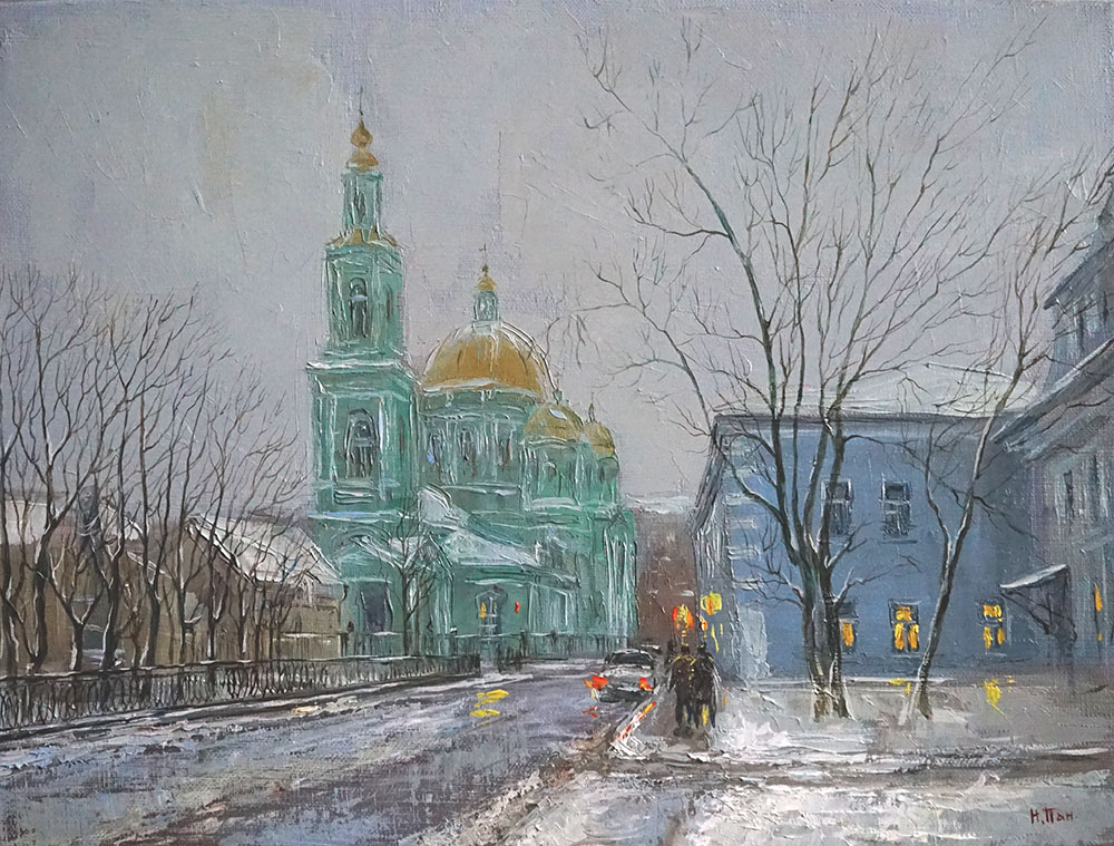 """Нина Панюкова """"Прогулка по Спартаковской улице""""."""