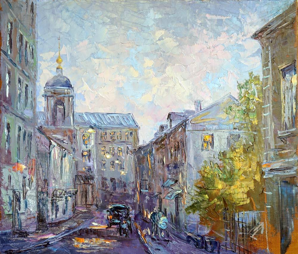 Нина Панюкова Подкопаевский переулок. 35х40, х. м.
