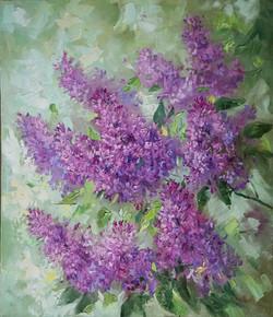 Нина Панюкова Сирень в цвету 46х40 х м