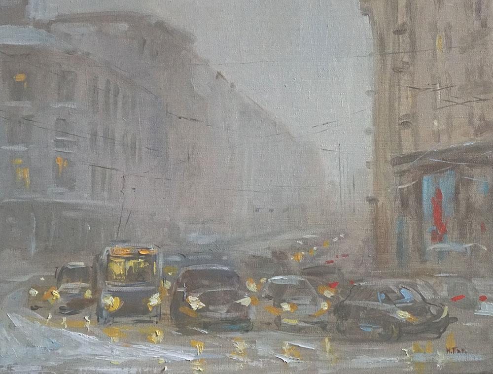 """Нина Панюкова """"Снежный туман на Тверской""""."""