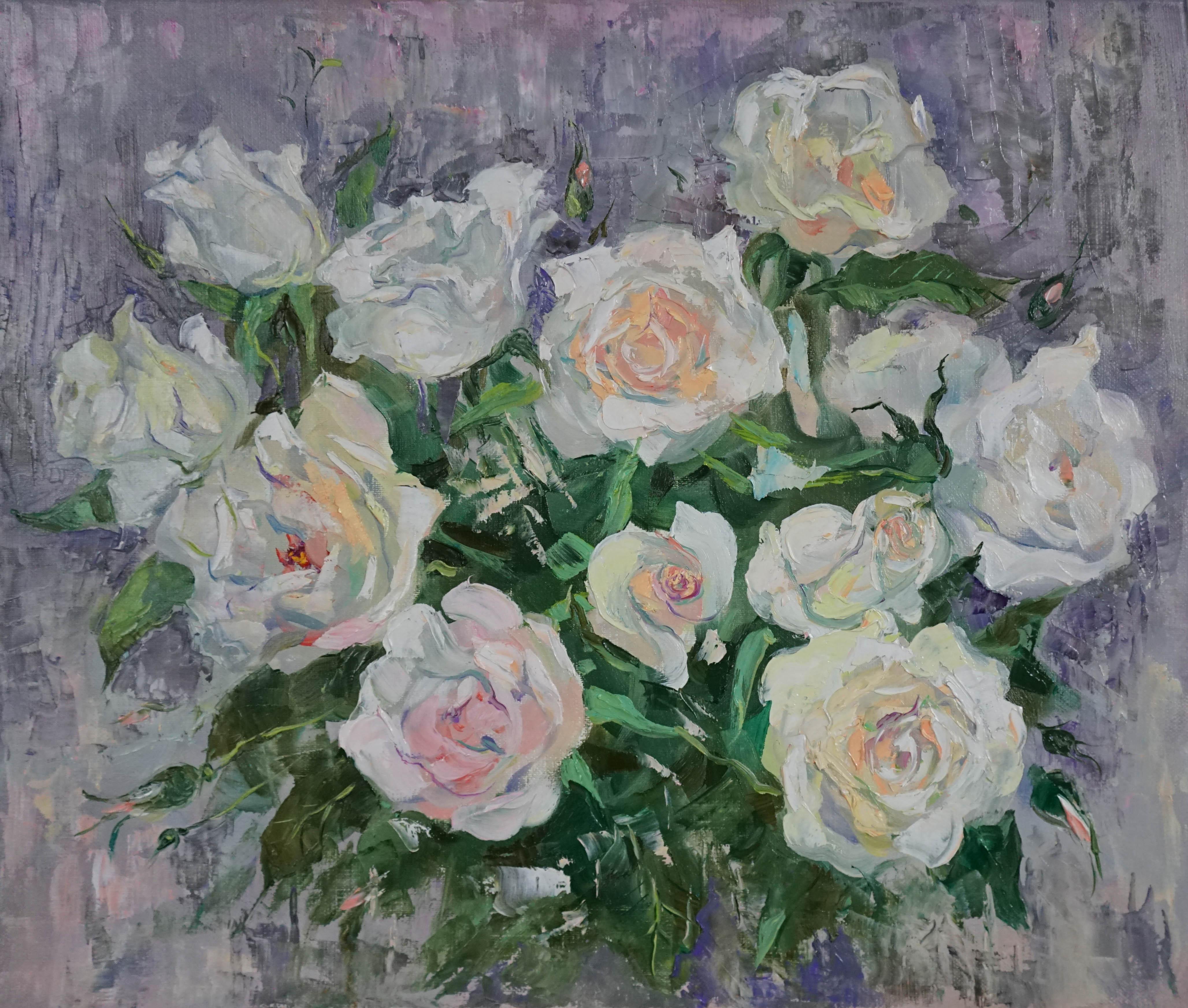 Нина Панюкова Розы в подарок 40х45 х м
