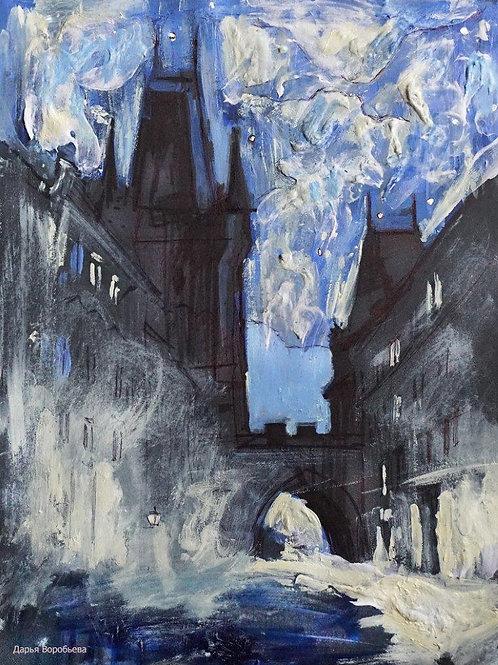 Лунная ночь в Праге