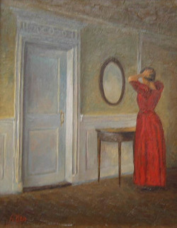 Александр Панюков Стук в дверь. 25х20, х. м