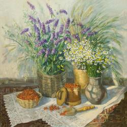 Нина Панюкова Полевые цветы. 100х110, х. м.