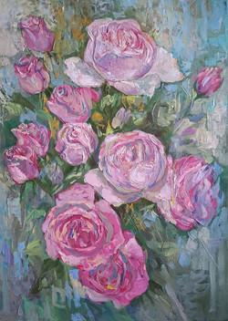 """Нина Панюкова """"Розовые розы."""""""