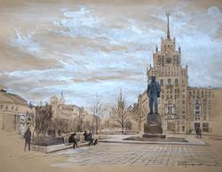"Нина Панюкова ""Триумфальная площадь."""