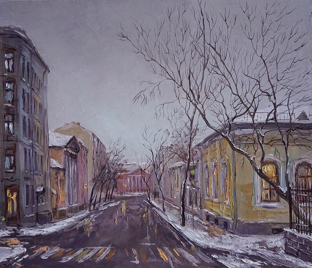 Нина Панюкова Первый снег Новая Басманная 30х35 х м