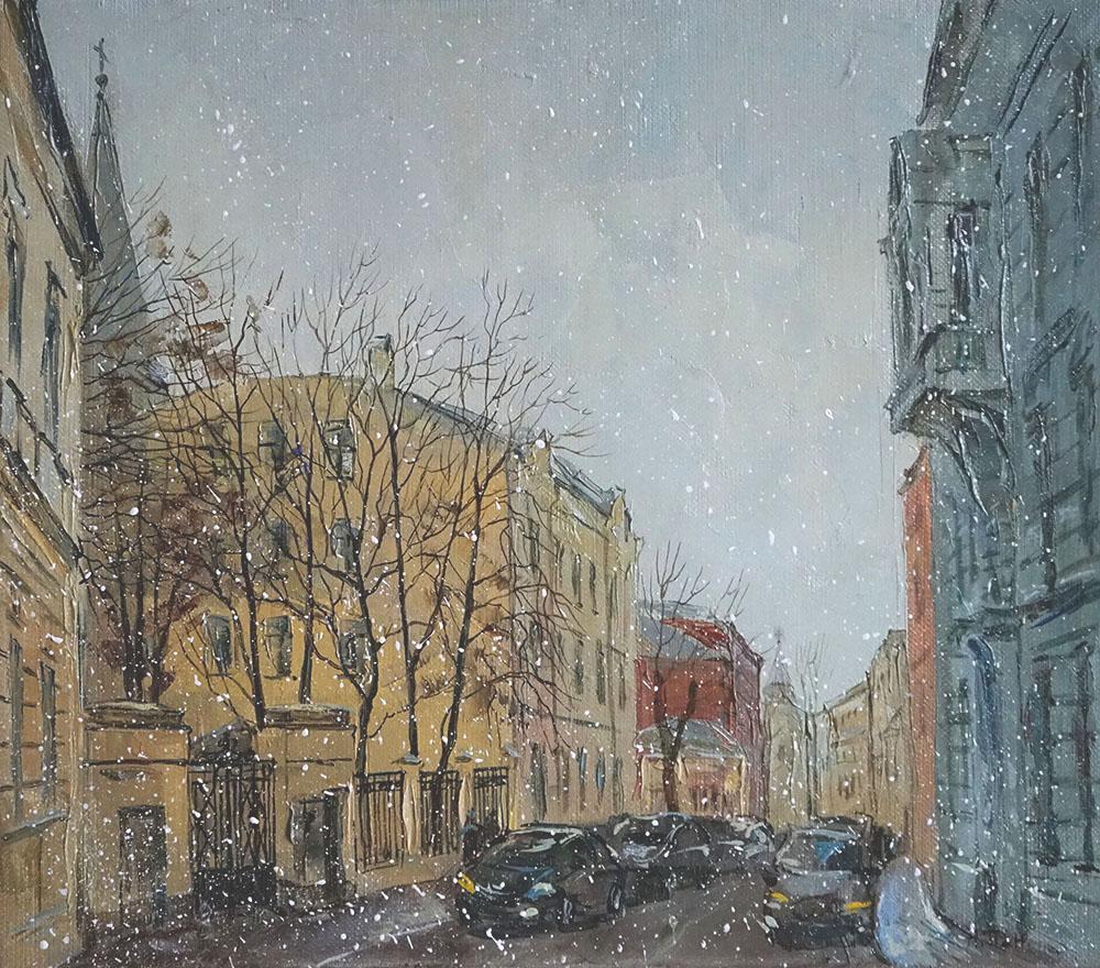"""Нина Панюкова """"Лёгкий снежок в Старосадском."""""""