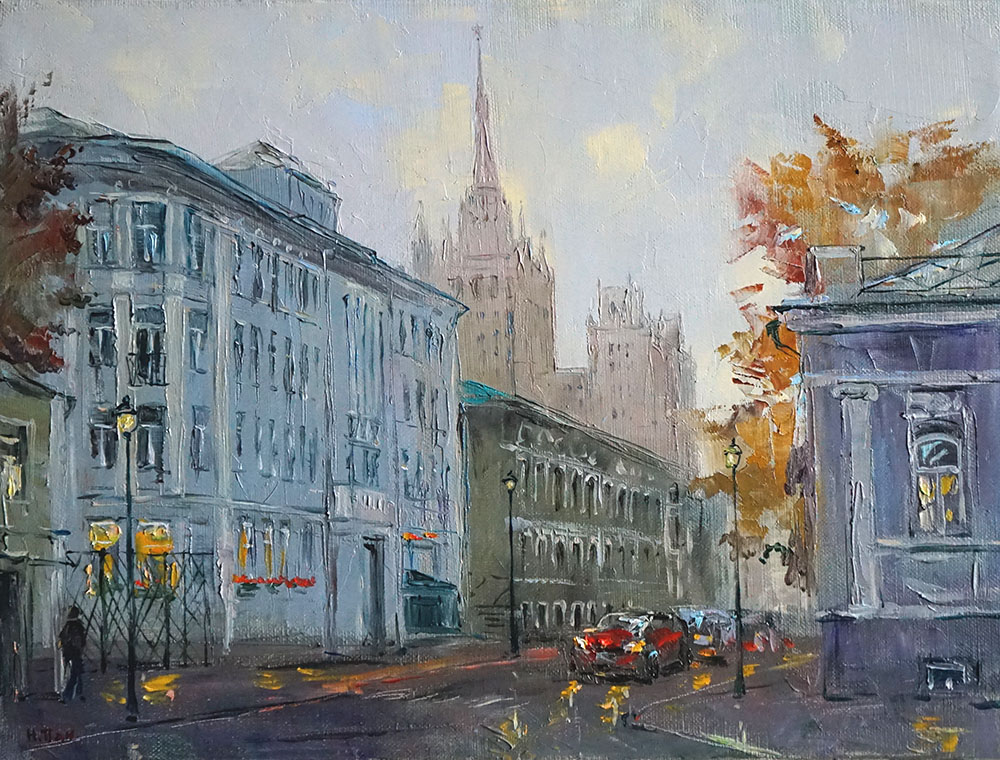 """Нина Панюкова """"Осень на Малой Никитской""""."""