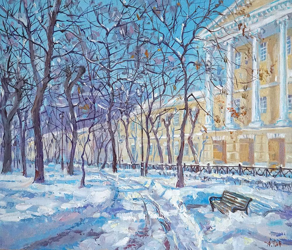 "Александр Панюков ""Весна на Страстном."""
