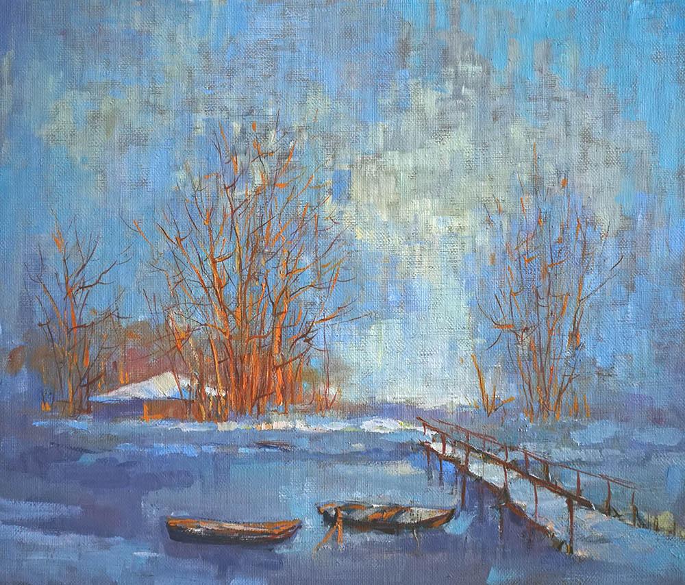 Александр Панюков Мороз и солнце 30х35 х м