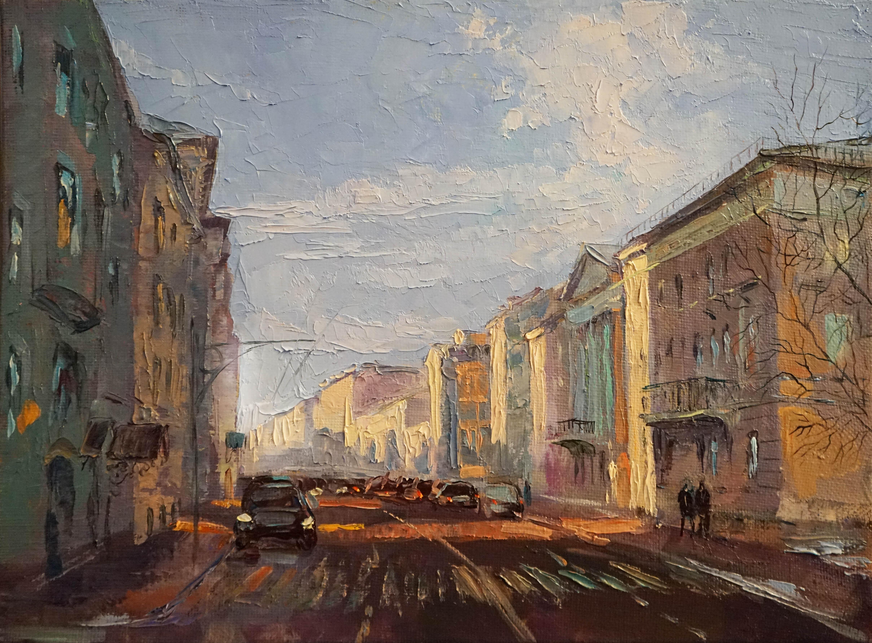Нина Панюкова  Улица Пречистенка 30х40