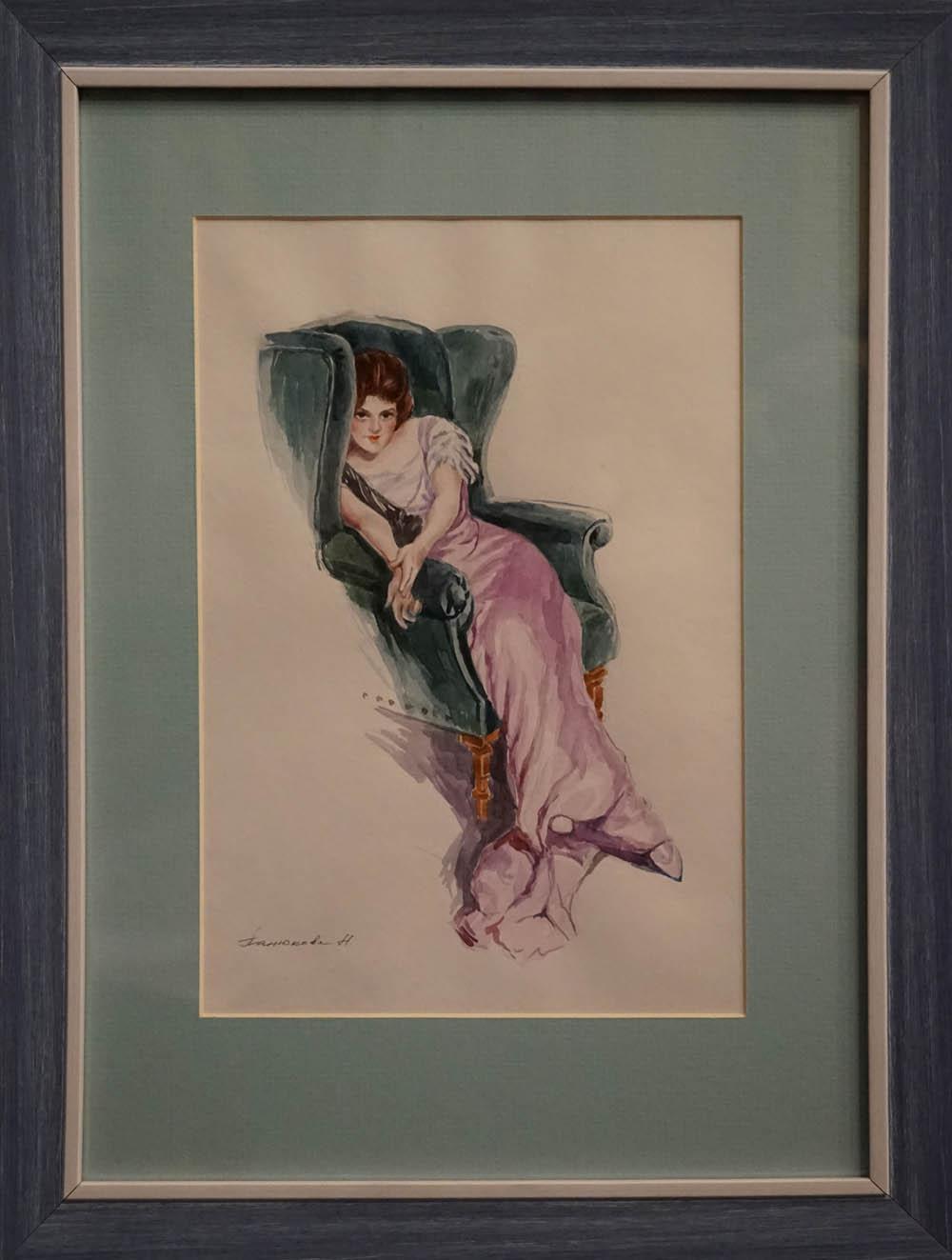 Нина Панюкова Уютное кресло. бумага, акварель, 40х30