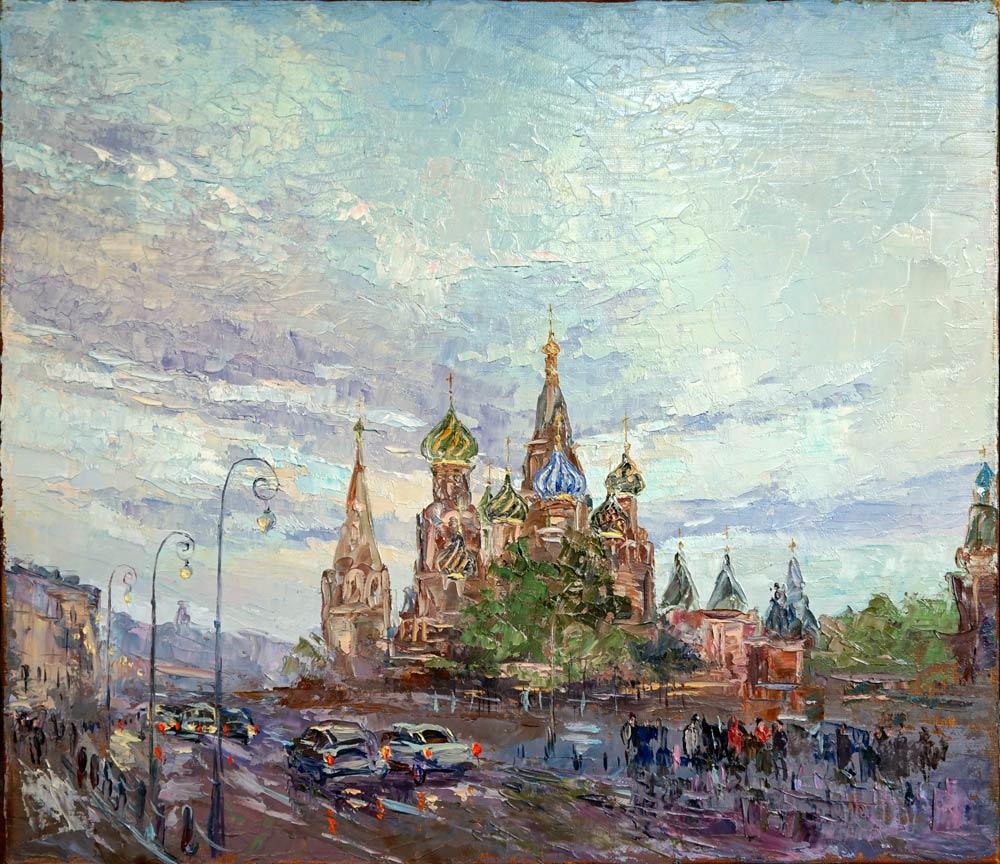 Нина Панюкова Храм Василия Блаженного. 35х40, х. м.