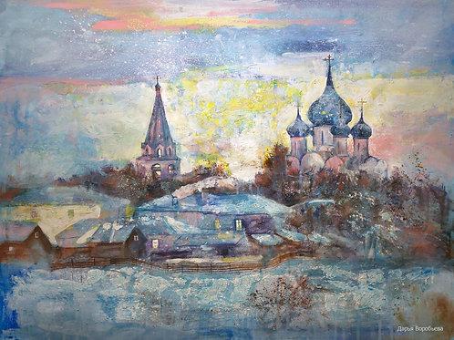 Зимний рассвет в Ростове