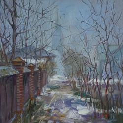 Александр Панюков Весенний туман 21х21 х м