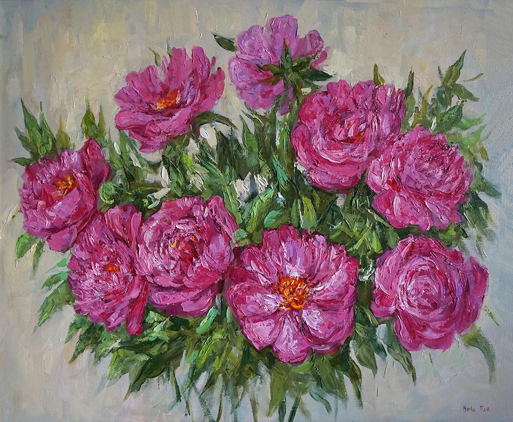 Нина Панюкова Мой розовый Мерседес  х м 50х60 jpg