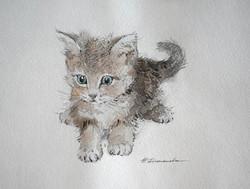 Нина Панюкова Малышка 21х28 бумага акварель ручка
