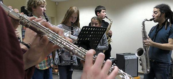 Lior Paz anime une classe d'improvisation avec les élèves du Conservatoire de Vence 2016 - © David Rivière