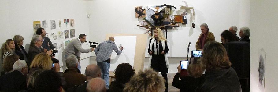 restitution des résidences de création des artistes Dror Karta, plasticien et Lior Paz, musicien à la Chapelle des pénitents Blancs de Vence 2016 - © Geneviève Roy