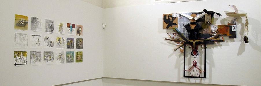 œuvres de Dror Kata, plasticien, exposées lors de la restitution de la résidence de création à la Chapelle des pénitents Blancs de Vence 2016