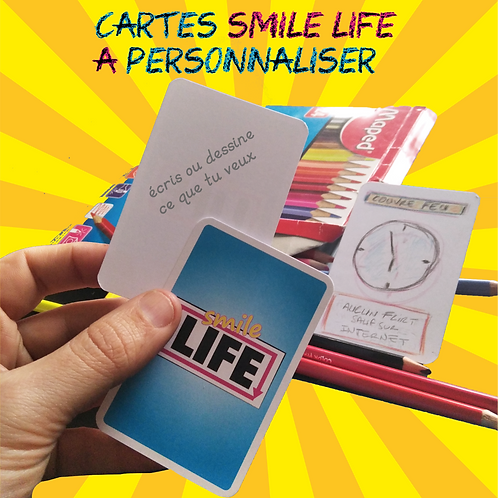 10 cartes vierges Smile Life