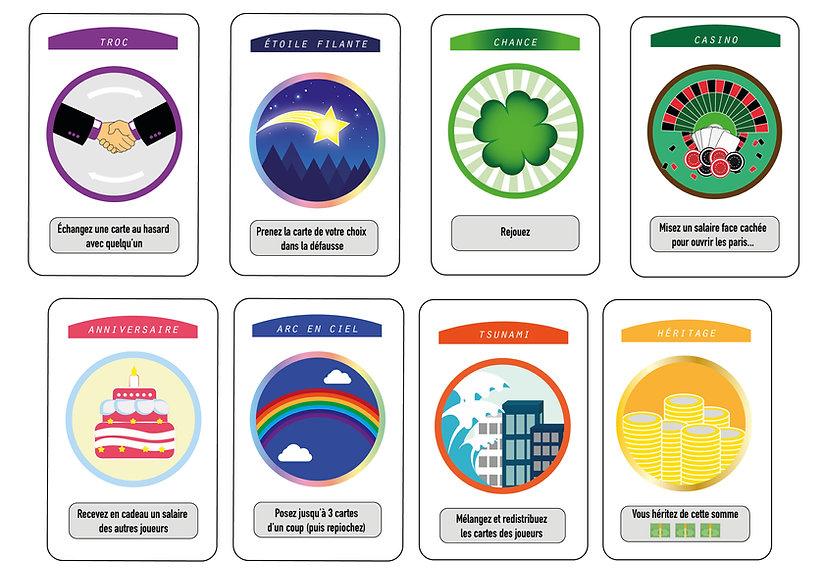 Ilustration règles Smile life : cartes spéciales