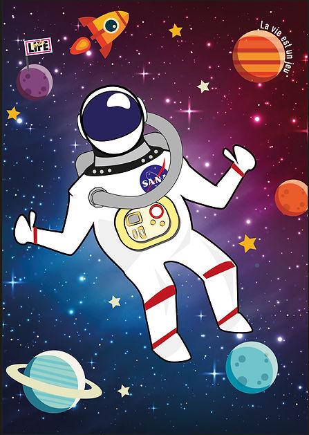 Poster astronaute Smile life